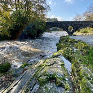 flooded cenarth falls