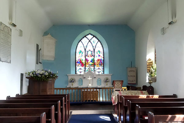 inside a church