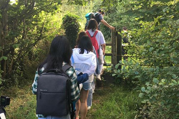 group walking