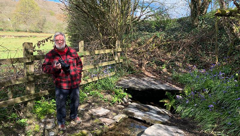 Phil Cope at Ffynnon Gybi